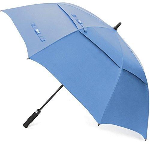 G4Free ゴルフ傘 長傘 ワンタッチ 自動開け大きな傘 100cm 梅雨対策 台風対応 ビジネス用 メンズ (ライト・ブルー)
