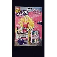バービーCrayola Color AliveカラーリングアクティビティBook w /クレヨン& Show Stopperピンク
