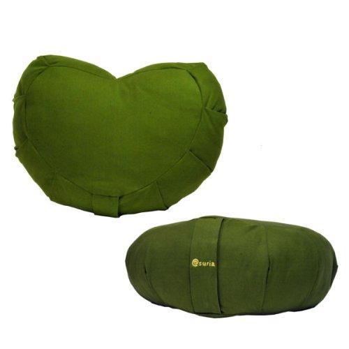 Suria (suria) cœur organique siège tissu olive 2 SU-OGHZ