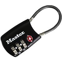 マスターロック(Master Lock) 南京錠 マスターロック TSAナンバー可変式ロック ケーブルタイプ ブラック 4688JADBLK