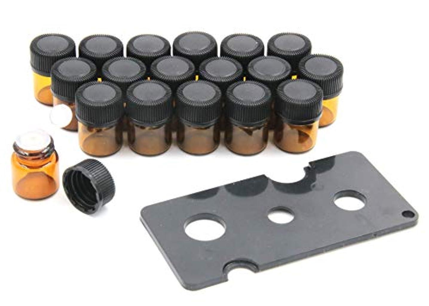 自由彼自身助言XPdesign アロマ 小分け遮光瓶 アロマオイル 遮光瓶 保存 容器 詰め替え 香水 ボトル 耐熱ガラス (1ml 18本セット)
