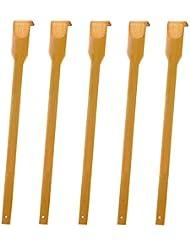 竹木製 孫の手5本 背中かゆみ止め 体をリラックス 敬老の日の素敵なプレゼント43センチ