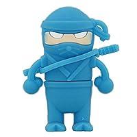 ブルー忍者モデルペンドライブUSBフラッシュドライブフラッシュカード漫画Uディスクフラッシュメモリスティック