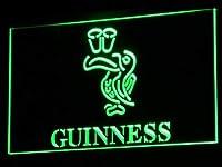 Guinness ToucanLED看板 ネオンサイン ライト 電飾 広告用標識 W30cm x H20cm グリーン