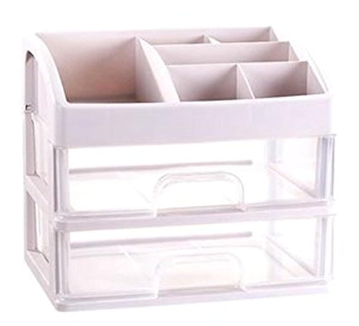 執着ハッチこのZUOMAメークボックス 化粧品収納ボックス コスメスタンド 引き出し式 メークケース 小物/化粧品入れ コスメ収納 透明アクリル 大容量 (クリア27.6*20*23.8CM(2層))