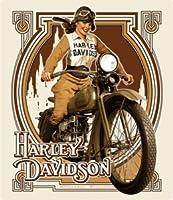 Harley - Davidson ® NOUVEAU Babe Embossed Tin Sign