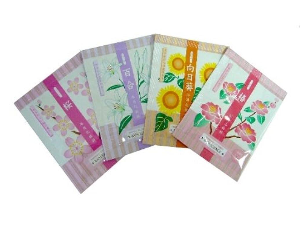 ハイキングに行く描く地殻入浴剤 花の入浴料シリーズ 4種 各10包?計40包セット