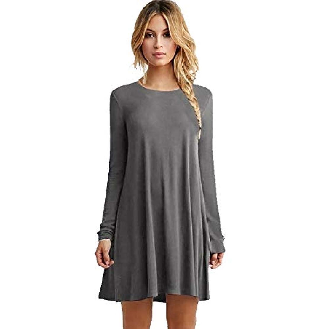 タウポ湖うなるドラマMIFANルースドレス、プラスサイズのドレス、長袖のドレス、女性のドレス、秋のドレス、マキシドレス、コットンドレス
