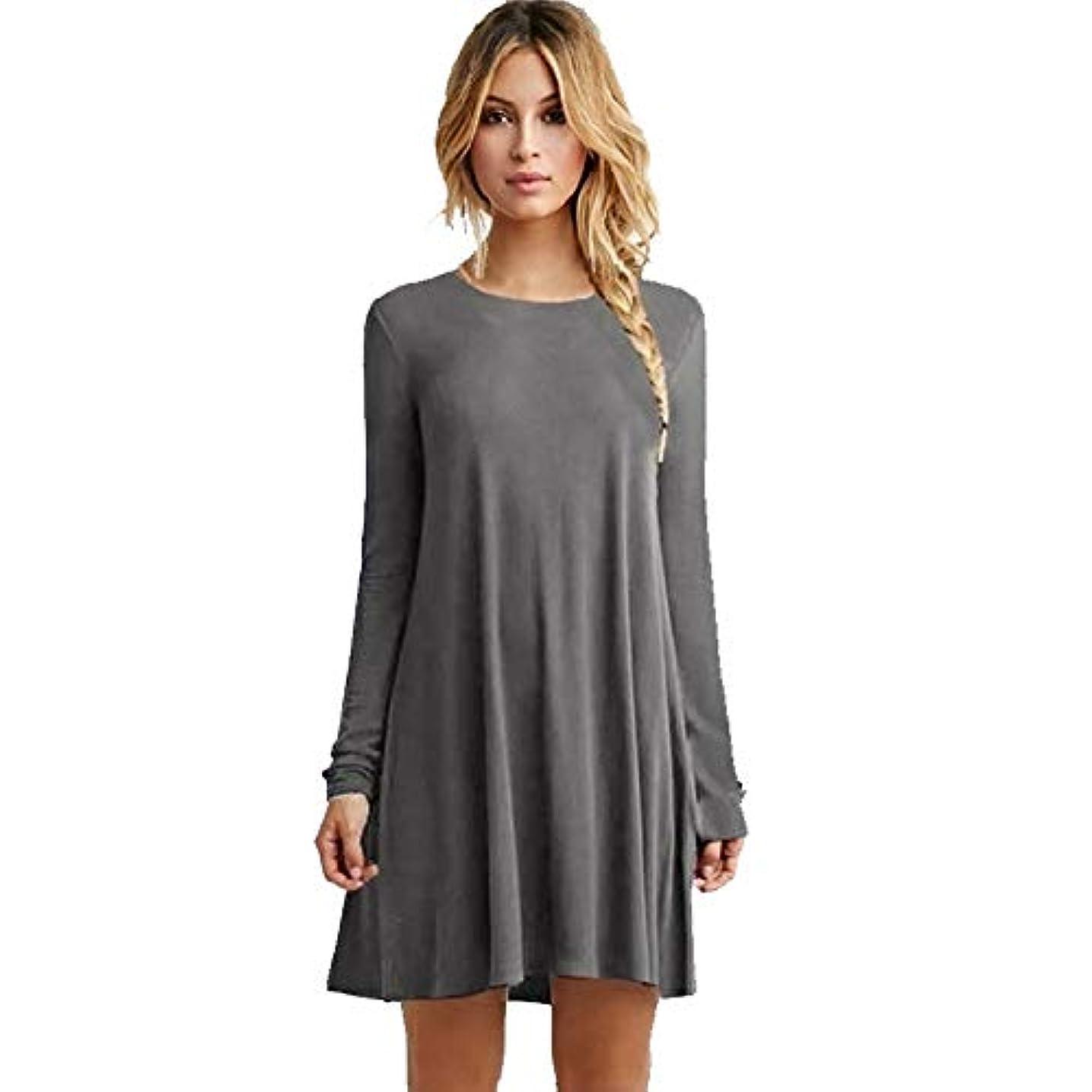 不健康飛行機うつMIFANルースドレス、プラスサイズのドレス、長袖のドレス、女性のドレス、秋のドレス、マキシドレス、コットンドレス