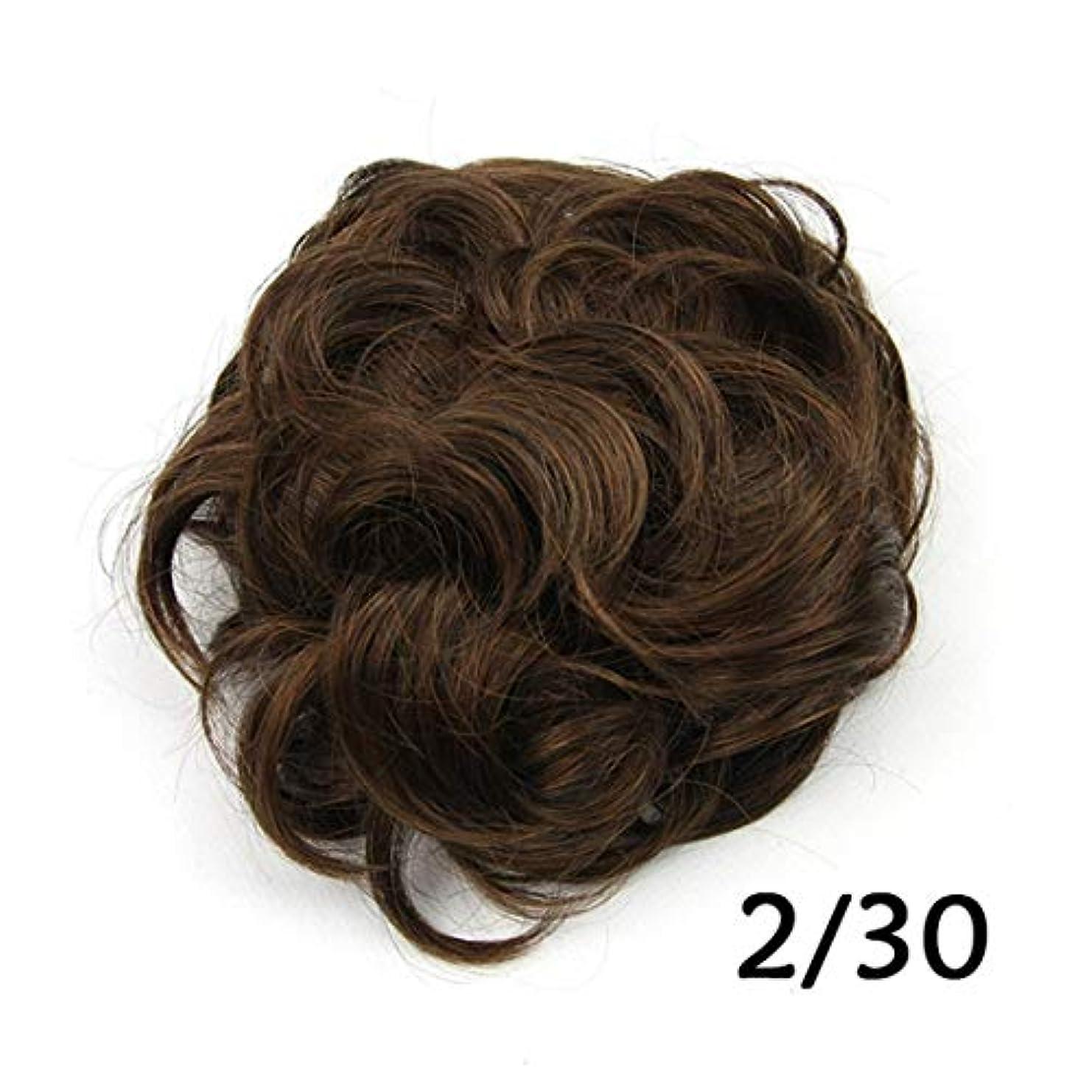 露骨な流体完璧なJIANFU かわいい髪は女性のためのロープのバンの甘いフラワーボールの頭髪を引っ張る高温のシルクの髪 (色 : Color 2/30)