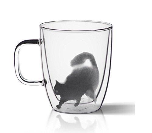 QD-SGMP グラス 猫柄 ガラスカップ マグカップ 可愛...