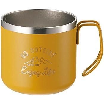 キャプテンスタッグ(CAPTAIN STAG) マグカップ コップ ダブルステンレス 真空断熱 保温・保冷 350ml イエロー モンテ UE-3434
