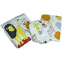 At The Circus Polka Dot 3 Piece Crib Sheet Skirt Comforter Bedding Set by Zeckos