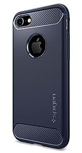 【Spigen】 iPhone7 ケース, ラギッド・アーマー [ 米軍MIL規格取得 落下 衝撃 吸収 ] アイフォン 7 用 耐衝撃カバー (iPhone7, ミッドナイト・ブルー)