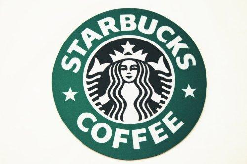 海外限定品 スターバックス マウスパッド 直径20cm 1992年ロゴ 旧ロゴ 並行輸入品