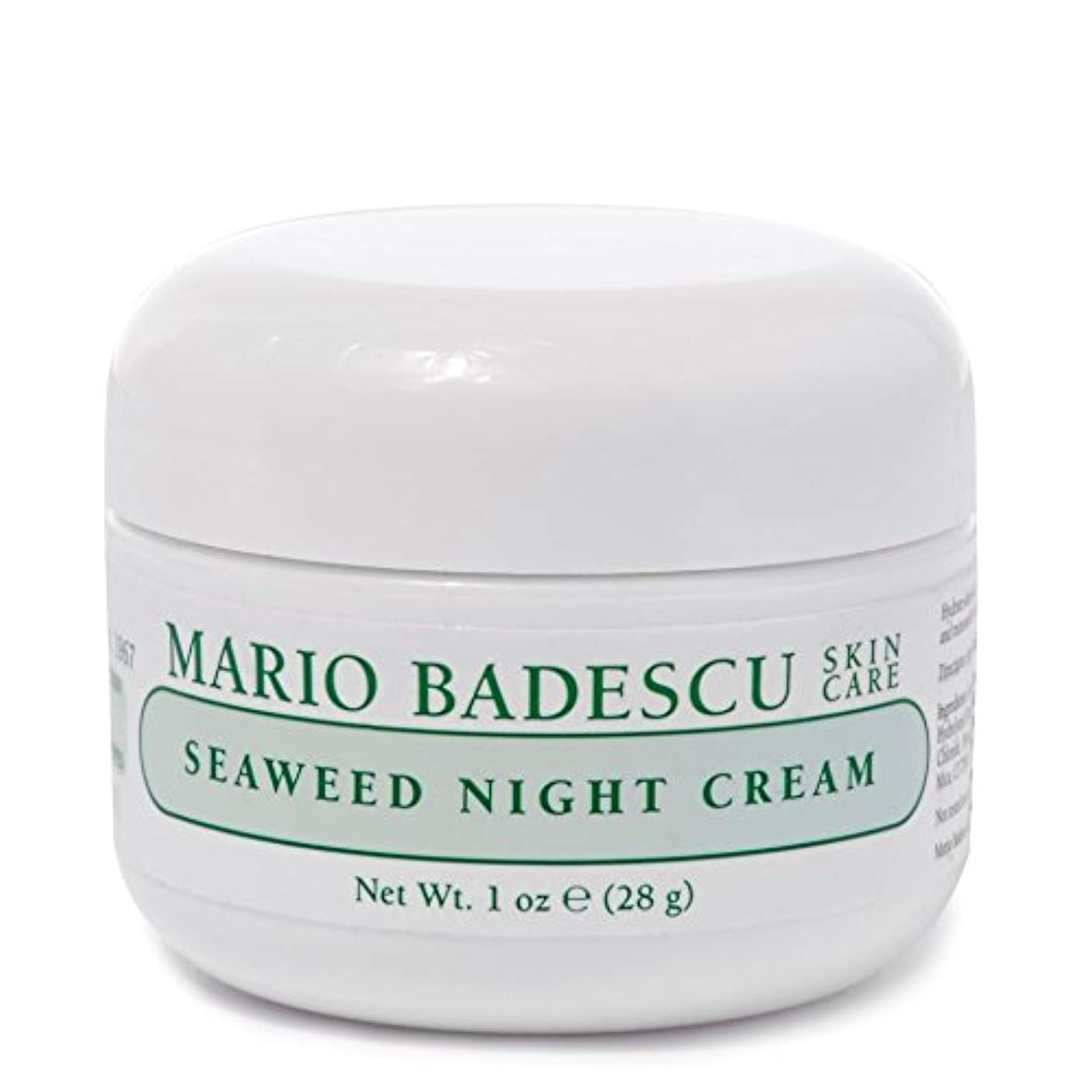 消費する毎回エゴマニアMario Badescu Seaweed Night Cream 28g - マリオ海藻ナイトクリーム28グラム [並行輸入品]
