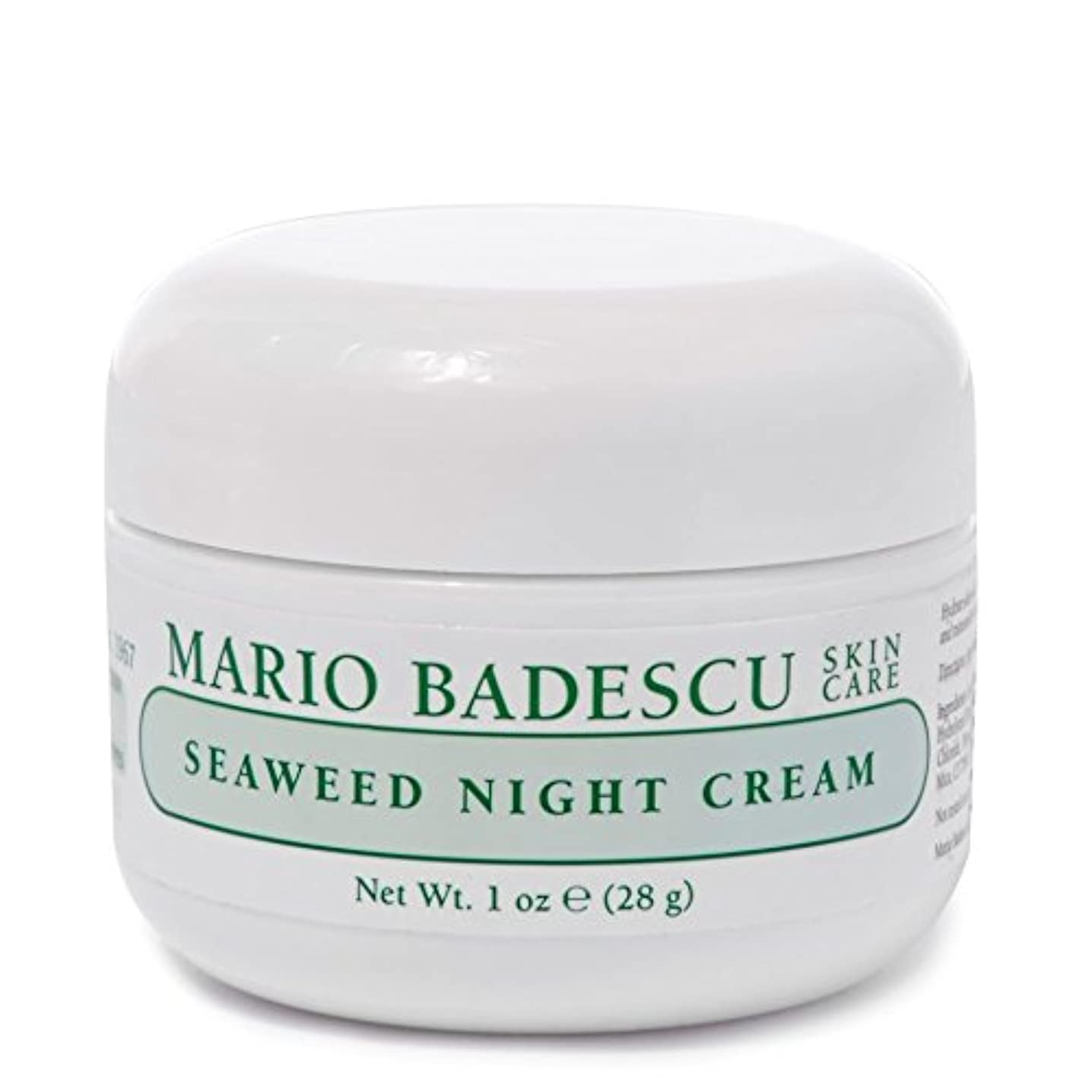 廃止屈辱する台風Mario Badescu Seaweed Night Cream 28g - マリオ海藻ナイトクリーム28グラム [並行輸入品]