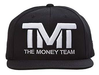 (ザ・マネーチーム) THE MONEY TEAM 正規輸入品 TMT-H006-3KW 3.黒ベース×白ロゴ キャップ COURTSIDE 刺繍 帽子 フロイド・メイウェザー メンズ ボクシング