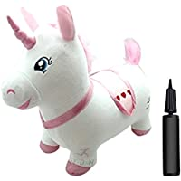 Bouncy & Inflatable Real Feel Hopping Horse Bouncy Horse Plush Inflatable Unicorn