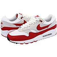 [ナイキ] NIKE AIR MAX 90/1 WHITE/UNIVERSITY RED/NEUTRAL GREY/BLACK [並行輸入品]