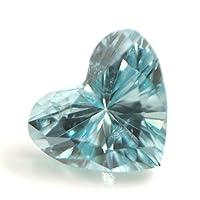 ブルーダイヤモンド (トリートメント) ルース(裸石) 0.037ct アイスブルー系 ハートシェイプ
