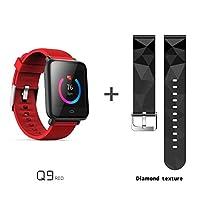 Q9plusスマートブレスレット 超薄型 スマートウォッチ スマート おしゃれ 腕時計 カラースクリーン 1.3インチ IP67防水 運動マイル記録 カロリー消費計算