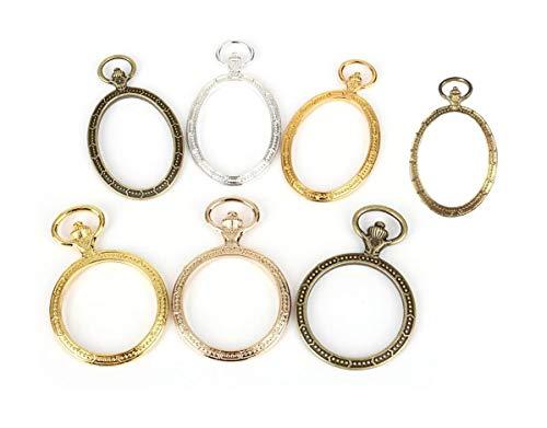 懐中時計 レジン 枠 空枠 アクセサリー パーツ 円形 & 楕円形 アクセサリー 材料