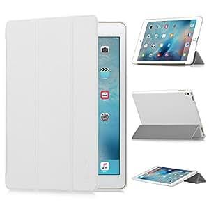 iPad Pro 9.7インチ ケース,【選べる5色】【IVSO】オリジナルiPad Pro 9.7専用カバー スマートケース 超薄型 最軽量 - iPad Pro 9.7インチ 専用ケース (ホワイト)