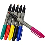 Healifty 6pcs Tattoo Skin Marker Pen Piercing Marking Scribe Pen Tattoo Supplies