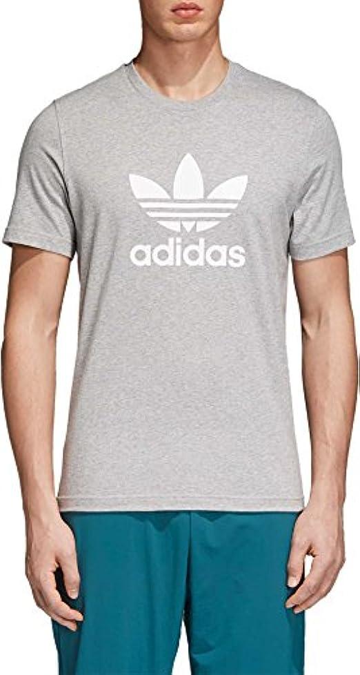 時々運ぶ奴隷アディダス トップス シャツ adidas Originals Men's Trefoil Graphic T MediumGrey [並行輸入品]