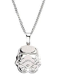 Men 'sステンレススチールStar Wars Stormtrooper Smallペンダントチェーン付き