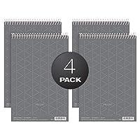 Spiral Steno Notebook, Gregg Rule, 6 x 9, Gray, 4 80-Sheet Pads/Pack (並行輸入品)