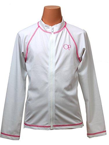 OceanPacific(オーシャンパシフィック)キッズラッシュガード長袖UV加工100110120130140150160127-806ホワイト160