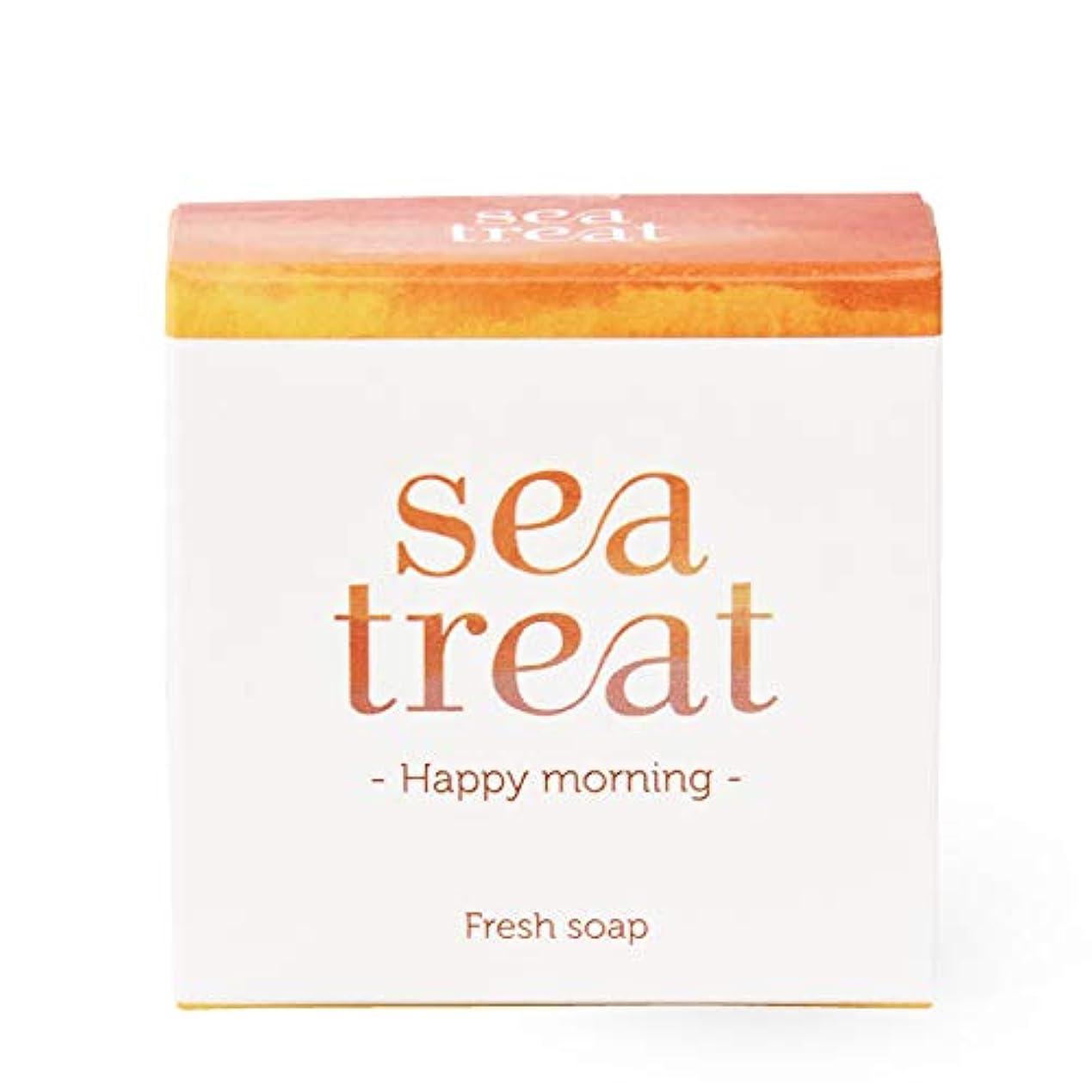 不道徳重くするボウルsea treat ソープ 石鹸(しっとりタイプ)-Happy Morning-