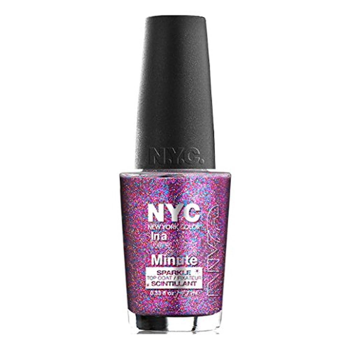 寺院楽しませる謝る(3 Pack) NYC In A New York Color Minute Sparkle Top Coat - Big City Dazzle (並行輸入品)