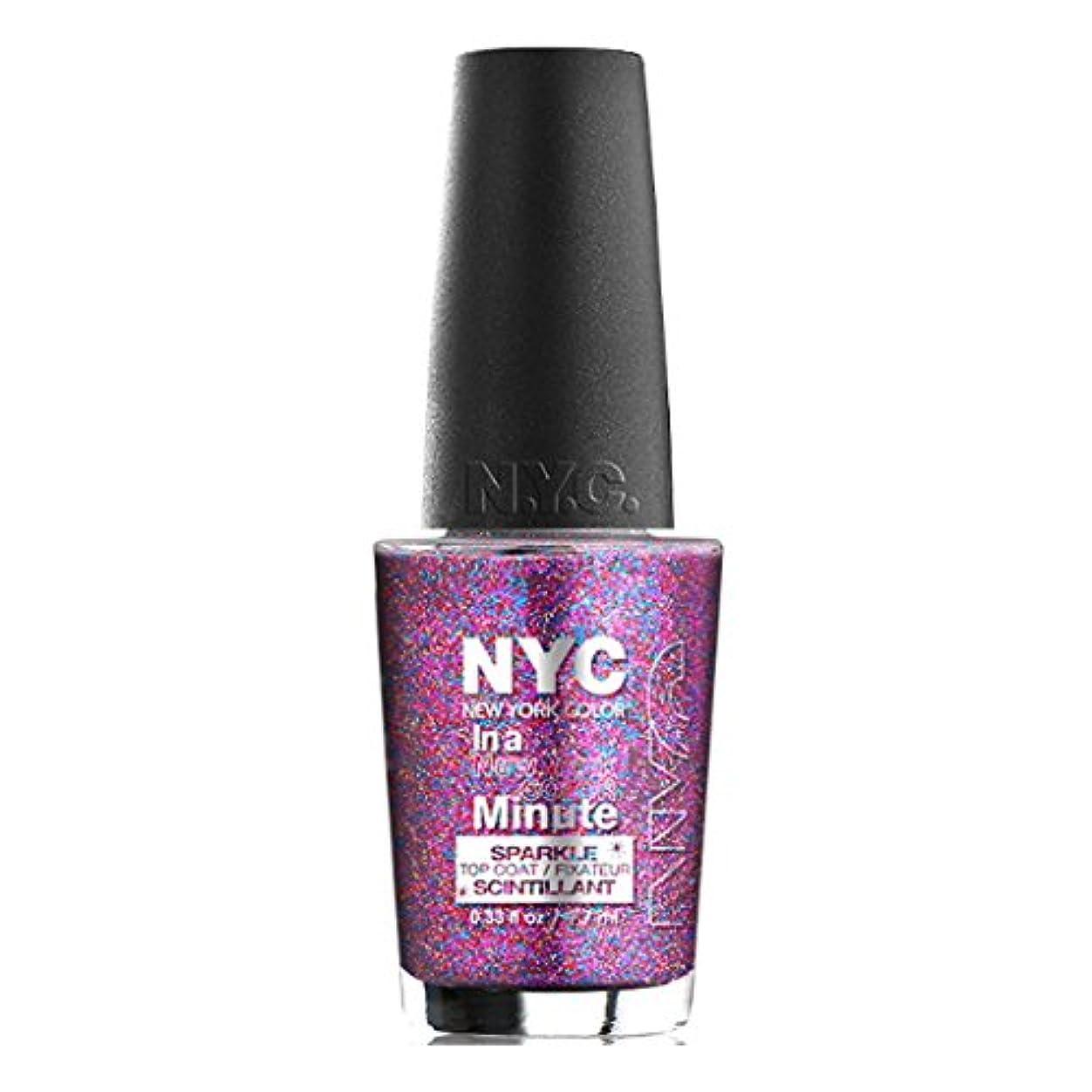 平日残酷なギネス(6 Pack) NYC In A New York Color Minute Sparkle Top Coat - Big City Dazzle (並行輸入品)