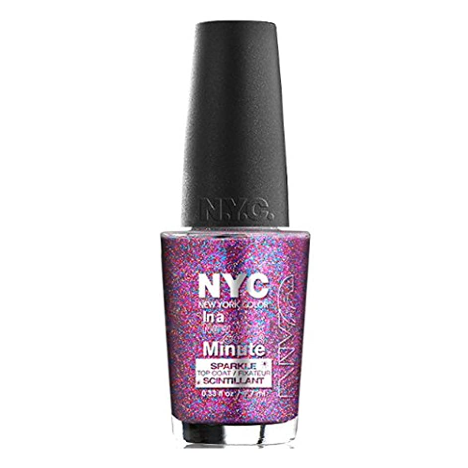 (6 Pack) NYC In A New York Color Minute Sparkle Top Coat - Big City Dazzle (並行輸入品)