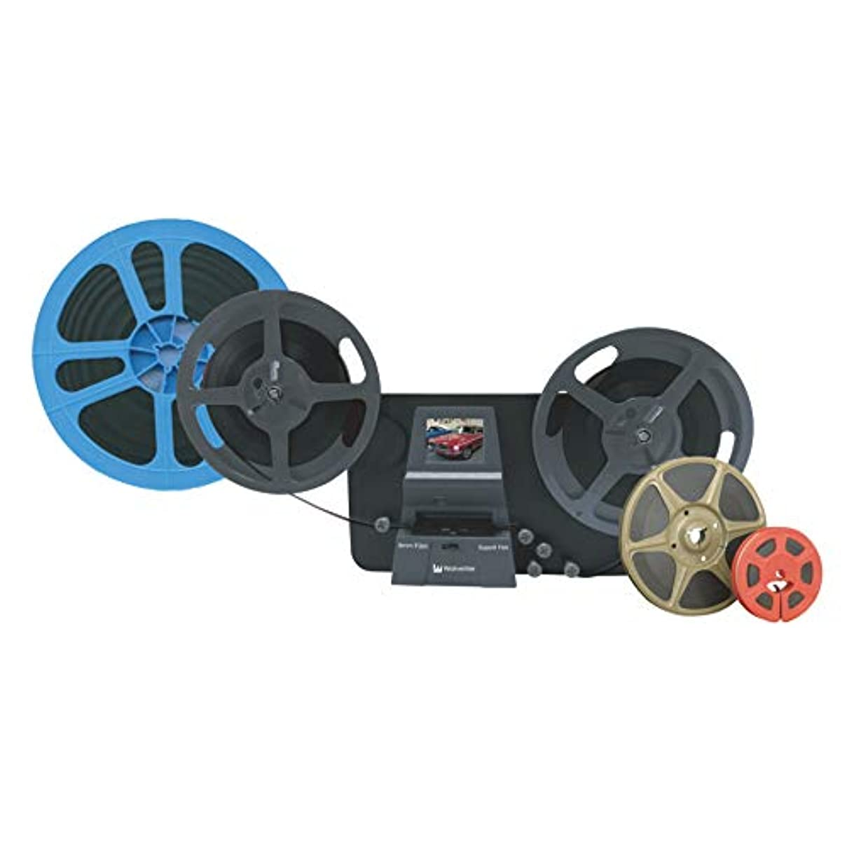 サポートキノコ白鳥Wolverine 8mm フィルムスキャナー デジタルムービーメーカー MM100PRO [ブラック] 8mmフィルム レギュラー8/スーパー8/シングル8 プロフィルムデジタルコンバーター