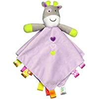Taggies Purple Giraffe Rattling Security Blanket by Taggies [並行輸入品]