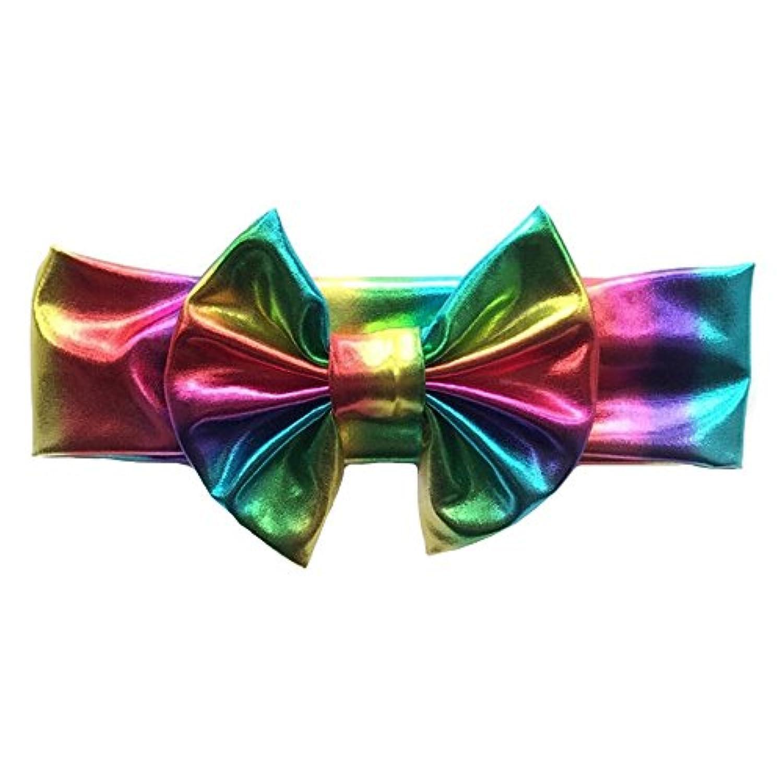 Tovadoo ヘアバンド 子供用 女の子 リボン 虹色 髪飾り 多色 かわいい おしゃれ 誕生日会 結婚式 イベント用 0.5-3歳