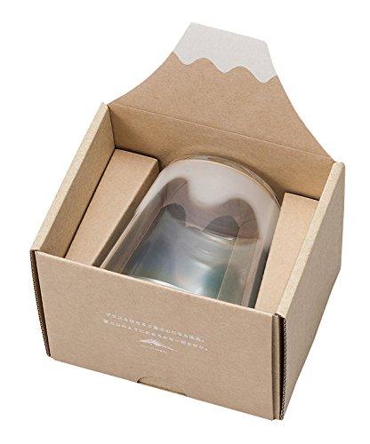 アデリア 富士山模様のグラス フリーカップ ブルー ギフト箱入 6545