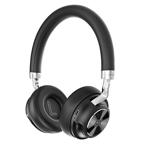 Proxelle Bluetooth ヘッドホン 密閉型 オンイヤー ワイヤレス対応 高音質 小型・軽量設計 マイク付き 有線接続 15時間再生 調節可能 【Cosy】 ブラック