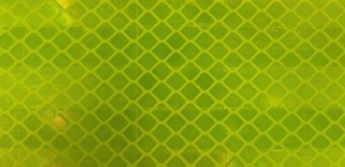 コンクリート粗面に貼付OK 明るさ2倍 3M製 カプセルプリズム高輝度反射シート 蛍光黄緑(レモンイエロー) 90x250ミリ