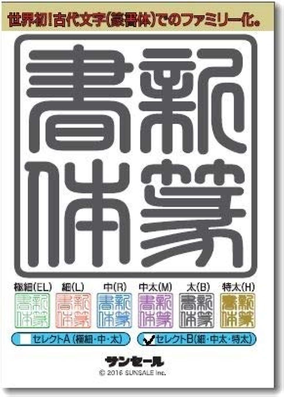 見る人チョップ等新篆書体セレクトB(3書体) 細(L)?中太(M?特太H)/TrueType Hybrid   PC/Mac