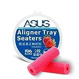 非毒性デザインAligner Chewie Teeth Chewies Aligner Orthodontic Bite Stick Purple (Pink)