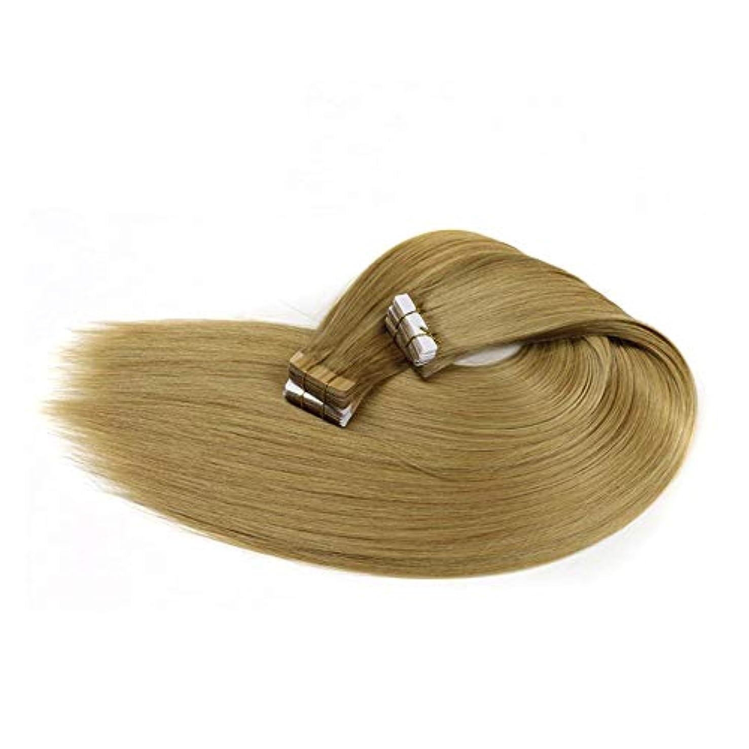 申し立てなめる軍艦WASAIO ヘアエクステンションクリップUnseamed髪型ブリーチブロンド、ブラジルの100%人間レミーナノ (色 : Blonde, サイズ : 24 inch)