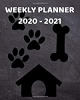 2020-2021 Weekly Planner: 2 Year Weekly & Monthly View Organizer & Agenda with To-Do's   For Dog Lovers