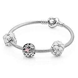 (パンドラ)PANDORA Flowers From the Heart 女性用 ジュエリー ブレスレット & チャーム ギフトセット Ladies Jewelry Bracelet & Charms Gift Set [並行輸入品]