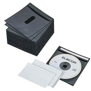 ELECOM CCD-016LBK 不織布CD/DVDケース(両面収納)