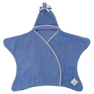 Tuppence & Crumble タッペンスアンドクランブル 星型アフガン Star Wrap スターラップ 0-4ヶ月用 スカイブルー